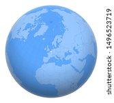 belgium on the globe. earth...   Shutterstock .eps vector #1496523719