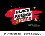 black friday sale banner layout ...   Shutterstock .eps vector #1496535020