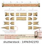 diy kit for papyrus tittle... | Shutterstock .eps vector #1496542193