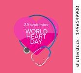 world heart day banner or... | Shutterstock .eps vector #1496549900