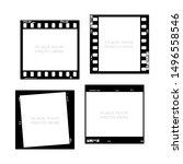 set of 35mm filmstrips. film... | Shutterstock .eps vector #1496558546