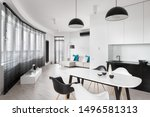 elegant  round shaped apartment ... | Shutterstock . vector #1496581313