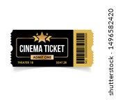 realistic cinema ticket icon in ...   Shutterstock .eps vector #1496582420