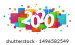 2020 concept. modern colored... | Shutterstock .eps vector #1496582549