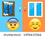 cute emoticons in a warm and...   Shutterstock . vector #1496615366