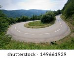 A hairpin in the alps in southern Germany