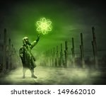 man in respirator against... | Shutterstock . vector #149662010