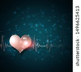 heart pulsating rhythm graph... | Shutterstock . vector #1496625413