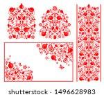 red design for moslem wedding... | Shutterstock .eps vector #1496628983