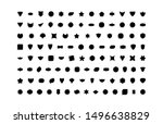 set of empty geometrical shapes.... | Shutterstock .eps vector #1496638829