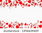 frame with hearts for present... | Shutterstock . vector #1496639609
