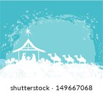 christian christmas nativity... | Shutterstock .eps vector #149667068