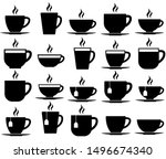 Tea And Coffee Cup Set Icon ...