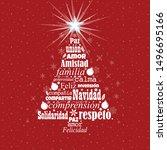 Greeting Card Of Feliz Navidad  ...