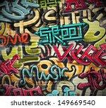 graffiti grunge texture. eps 10 | Shutterstock .eps vector #149669540