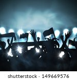 fans in stands. eps 10 | Shutterstock .eps vector #149669576