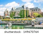 Stock photo beautiful view of inner harbour of victoria vancouver island b c canada 149670764