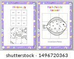 Division Math Puzzle Worksheet...