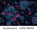 seamless floral pattern in...   Shutterstock .eps vector #1496738000