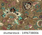 seamless floral pattern in... | Shutterstock .eps vector #1496738006