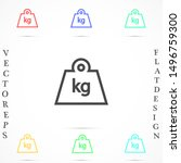 weight icon vector in trendy...
