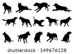 a set of pet dog silhouettes... | Shutterstock .eps vector #149676128