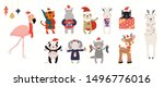 big christmas set with cute... | Shutterstock .eps vector #1496776016