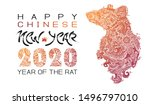 chinese new year 2020   new... | Shutterstock .eps vector #1496797010