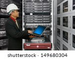 engineering in data center room  | Shutterstock . vector #149680304