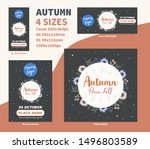 autumn price fall flyer dl a4... | Shutterstock .eps vector #1496803589