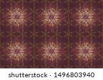 design gift wrapping paper ... | Shutterstock . vector #1496803940