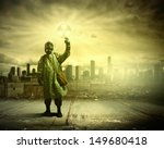 man in respirator against...   Shutterstock . vector #149680418