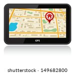 gps navigation device with map | Shutterstock . vector #149682800