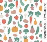 seamless pattern with... | Shutterstock .eps vector #1496839370