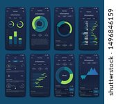 vector graphics set mobile... | Shutterstock .eps vector #1496846159