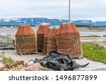 Stacked Crab Pots And Other...