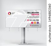 creative billboard design ... | Shutterstock .eps vector #1496882360