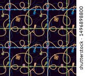 seamless pattern with chains ... | Shutterstock . vector #1496898800