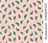 beautiful seamless pattern with ... | Shutterstock . vector #1496899253