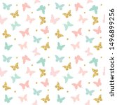 glitter  pastel pink and blue... | Shutterstock . vector #1496899256