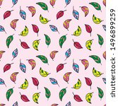 beautiful seamless pattern with ... | Shutterstock . vector #1496899259