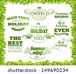 green leaves texture and ... | Shutterstock .eps vector #149690234