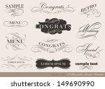calligraphic design elements... | Shutterstock .eps vector #149690990