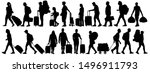 crowd of people tourists.... | Shutterstock .eps vector #1496911793