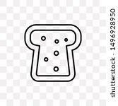 toast bread icon isolated on...
