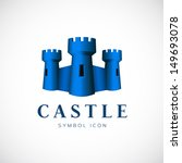 Castle towers vector symbol icon