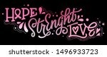 hope. strenght. love   qoute.... | Shutterstock .eps vector #1496933723
