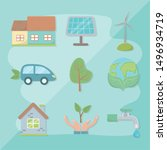 save energy and ecology design | Shutterstock .eps vector #1496934719