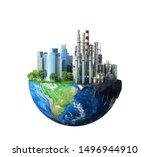 factory. concept of global... | Shutterstock . vector #1496944910