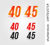 number forty  40  and forty... | Shutterstock .eps vector #1497015719